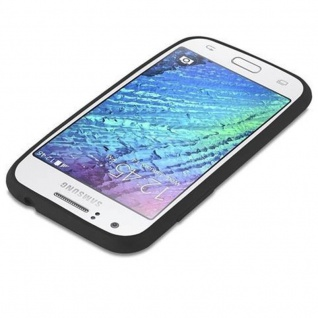Cadorabo Hülle für Samsung Galaxy J1 2015 in CANDY SCHWARZ - Handyhülle aus flexiblem TPU Silikon - Silikonhülle Schutzhülle Ultra Slim Soft Back Cover Case Bumper - Vorschau 3