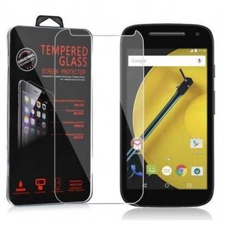 Cadorabo Panzerglas für Motorola MOTO E2 (2.Gen.) - Schutzfolie in KRISTALL KLAR ? Gehärtetes (Tempered) Display-Schutzglas in 9H Härte mit 3D Touch Kompatibilität