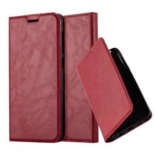 Cadorabo Hülle für HTC Desire 10 LIFESTYLE / Desire 825 in APFEL ROT - Handyhülle mit Magnetverschluss, Standfunktion und Kartenfach - Case Cover Schutzhülle Etui Tasche Book Klapp Style