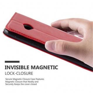 Cadorabo Hülle für HTC U PLAY in APFEL ROT Handyhülle mit Magnetverschluss, Standfunktion und Kartenfach Case Cover Schutzhülle Etui Tasche Book Klapp Style - Vorschau 5