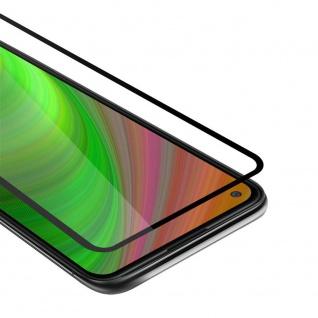 Cadorabo Vollbild Panzer Folie für Samsung Galaxy A11 Schutzfolie in TRANSPARENT mit SCHWARZ Gehärtetes (Tempered) Display-Schutzglas in 9H Härte mit 3D Touch
