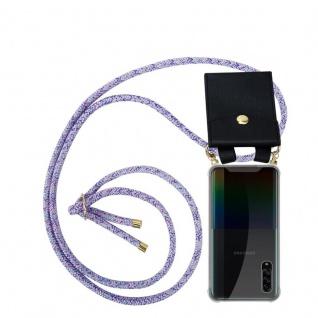 Cadorabo Handy Kette für Samsung Galaxy A90 5G in UNICORN Silikon Necklace Umhänge Hülle mit Gold Ringen, Kordel Band Schnur und abnehmbarem Etui Schutzhülle