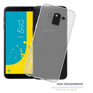 Cadorabo Hülle für Samsung Galaxy J6 2018 in VOLL TRANSPARENT - Handyhülle aus flexiblem TPU Silikon - Silikonhülle Schutzhülle Ultra Slim Soft Back Cover Case Bumper - Vorschau 5