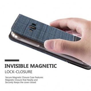 Cadorabo Hülle für Samsung Galaxy J1 2016 in DUNKEL BLAU SCHWARZ - Handyhülle mit Magnetverschluss, Standfunktion und Kartenfach - Case Cover Schutzhülle Etui Tasche Book Klapp Style - Vorschau 5