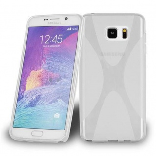 Cadorabo Hülle für Samsung Galaxy NOTE 5 in HALB TRANSPARENT ? Handyhülle aus flexiblem TPU Silikon ? Silikonhülle Schutzhülle Ultra Slim Soft Back Cover Case Bumper