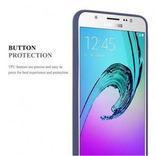 Cadorabo Hülle für Samsung Galaxy J7 2016 in FROST DUNKEL BLAU - Handyhülle aus flexiblem TPU Silikon - Silikonhülle Schutzhülle Ultra Slim Soft Back Cover Case Bumper - Vorschau 4