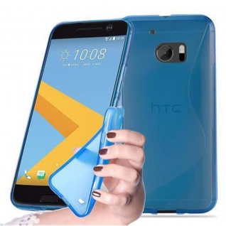 Cadorabo Hülle für HTC 10 (One M10) in ROYAL BLAU - Handyhülle aus flexiblem TPU Silikon - Silikonhülle Schutzhülle Ultra Slim Soft Back Cover Case Bumper