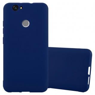 Cadorabo Hülle für Huawei Nova in CANDY DUNKEL BLAU - Handyhülle aus flexiblem TPU Silikon - Silikonhülle Schutzhülle Ultra Slim Soft Back Cover Case Bumper