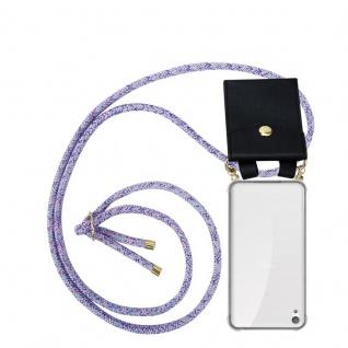 Cadorabo Handy Kette für Sony Xperia E5 in UNICORN Silikon Necklace Umhänge Hülle mit Gold Ringen, Kordel Band Schnur und abnehmbarem Etui Schutzhülle