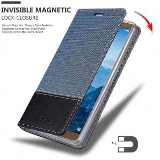Cadorabo Hülle für Huawei MATE 10 in DUNKEL BLAU SCHWARZ - Handyhülle mit Magnetverschluss, Standfunktion und Kartenfach - Case Cover Schutzhülle Etui Tasche Book Klapp Style - Vorschau 3