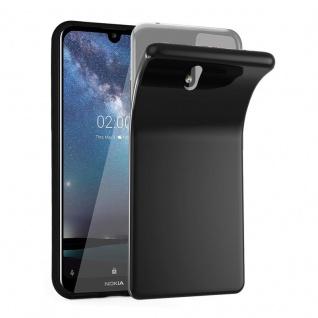 Cadorabo Hülle für Nokia 2.2 in SCHWARZ - Handyhülle aus flexiblem TPU Silikon - Silikonhülle Schutzhülle Ultra Slim Soft Back Cover Case Bumper