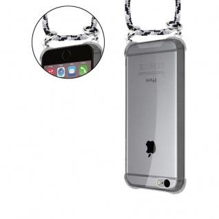 Cadorabo Handy Kette für Apple iPhone 6 PLUS / iPhone 6S PLUS in SCHWARZ CAMOUFLAGE - Silikon Necklace Umhänge Hülle mit Silber Ringen, Kordel Band Schnur und abnehmbarem Etui - Schutzhülle - Vorschau 5