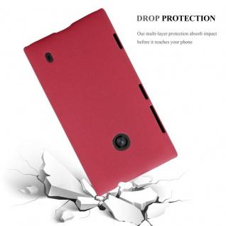 Cadorabo Hülle für Nokia Lumia 520 in FROSTY ROT - Hardcase Handyhülle aus Plastik gegen Kratzer und Stöße - Schutzhülle Bumper Ultra Slim Back Case Hard Cover - Vorschau 3