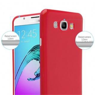 Cadorabo Hülle für Samsung Galaxy J7 2015 in JELLY ROT ? Handyhülle aus flexiblem TPU Silikon ? Silikonhülle Schutzhülle Ultra Slim Soft Back Cover Case Bumper - Vorschau 5