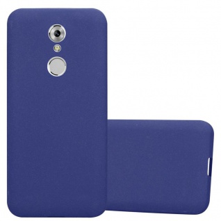 Cadorabo Hülle für ZTE Axon 7 MINI in FROST DUNKEL BLAU - Handyhülle aus flexiblem TPU Silikon - Silikonhülle Schutzhülle Ultra Slim Soft Back Cover Case Bumper