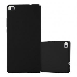 Cadorabo Hülle für Huawei P8 in METALL SCHWARZ - Hardcase Handyhülle aus Plastik gegen Kratzer und Stöße - Schutzhülle Bumper Ultra Slim Back Case Hard Cover