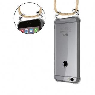 Cadorabo Handy Kette für Apple iPhone 6 PLUS / iPhone 6S PLUS in GLÄNZEND BRAUN - Silikon Necklace Umhänge Hülle mit Silber Ringen, Kordel Band Schnur und abnehmbarem Etui - Schutzhülle - Vorschau 5