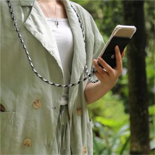 Cadorabo Handy Kette für Samsung Galaxy A6 PLUS 2018 in SCHWARZ CAMOUFLAGE Silikon Necklace Umhänge Hülle mit Silber Ringen, Kordel Band Schnur und abnehmbarem Etui Schutzhülle - Vorschau 4