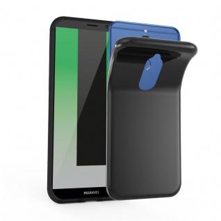 Cadorabo Hülle für Huawei MATE 10 LITE in SCHWARZ - Handyhülle aus flexiblem TPU Silikon - Silikonhülle Schutzhülle Ultra Slim Soft Back Cover Case Bumper