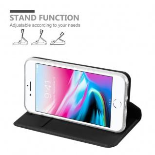 Cadorabo Hülle für Apple iPhone 8 / iPhone 7 / iPhone 7S in CLASSY SCHWARZ - Handyhülle mit Magnetverschluss, Standfunktion und Kartenfach - Case Cover Schutzhülle Etui Tasche Book Klapp Style - Vorschau 4