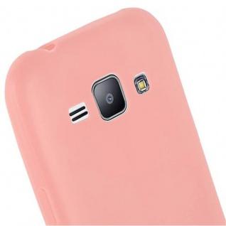 Cadorabo Hülle für Samsung Galaxy J1 2015 in CANDY ROSA - Handyhülle aus flexiblem TPU Silikon - Silikonhülle Schutzhülle Ultra Slim Soft Back Cover Case Bumper - Vorschau 5