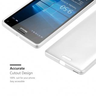 Cadorabo Hülle für Nokia Lumia 950 XL in METALLIC SILBER - Handyhülle aus flexiblem TPU Silikon - Silikonhülle Schutzhülle Ultra Slim Soft Back Cover Case Bumper - Vorschau 5