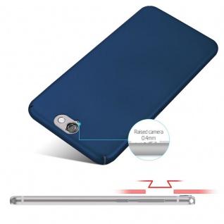 Cadorabo Hülle für HTC One A9 in METALL BLAU - Hardcase Handyhülle aus Plastik gegen Kratzer und Stöße - Schutzhülle Bumper Ultra Slim Back Case Hard Cover - Vorschau 4