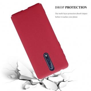 Cadorabo Hülle für Nokia 8 2017 in FROSTY ROT - Hardcase Handyhülle aus Plastik gegen Kratzer und Stöße - Schutzhülle Bumper Ultra Slim Back Case Hard Cover - Vorschau 3