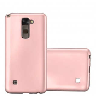 Cadorabo Hülle für LG Stylus 2 in METALLIC ROSÉ GOLD - Handyhülle aus flexiblem TPU Silikon - Silikonhülle Schutzhülle Ultra Slim Soft Back Cover Case Bumper