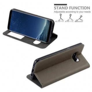 Cadorabo Hülle für Samsung Galaxy S8 PLUS in STEIN BRAUN ? Handyhülle mit Magnetverschluss, Standfunktion und 2 Sichtfenstern ? Case Cover Schutzhülle Etui Tasche Book Klapp Style - Vorschau 5