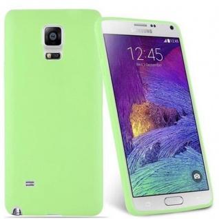 Cadorabo Hülle für Samsung Galaxy NOTE 4 in CANDY PASTELL GRÜN - Handyhülle aus flexiblem TPU Silikon - Silikonhülle Schutzhülle Ultra Slim Soft Back Cover Case Bumper - Vorschau 2