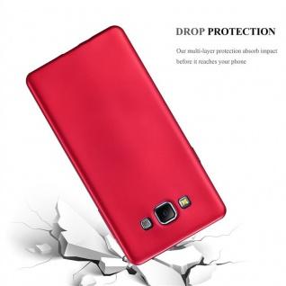 Cadorabo Hülle für Samsung Galaxy A7 2015 in METALLIC ROT - Handyhülle aus flexiblem TPU Silikon - Silikonhülle Schutzhülle Ultra Slim Soft Back Cover Case Bumper - Vorschau 3