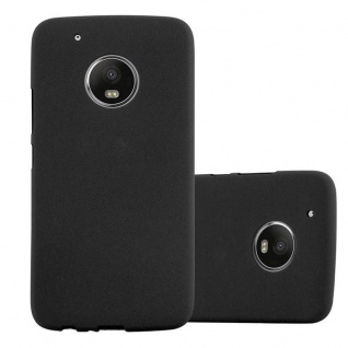 Cadorabo Hülle für Motorola MOTO G5 in FROST SCHWARZ - Handyhülle aus flexiblem TPU Silikon - Silikonhülle Schutzhülle Ultra Slim Soft Back Cover Case Bumper