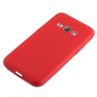 Cadorabo Hülle für Samsung Galaxy J1 2016 in CANDY ROT - Handyhülle aus flexiblem TPU Silikon - Silikonhülle Schutzhülle Ultra Slim Soft Back Cover Case Bumper - Vorschau 4