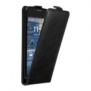 Cadorabo Hülle für Motorola MOTO G2 in NACHT SCHWARZ Handyhülle im Flip Design mit unsichtbarem Magnetverschluss Case Cover Schutzhülle Etui Tasche Book Klapp Style