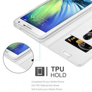 Cadorabo Hülle für Samsung Galaxy A7 2015 in CLASSY SILBER - Handyhülle mit Magnetverschluss, Standfunktion und Kartenfach - Case Cover Schutzhülle Etui Tasche Book Klapp Style - Vorschau 2