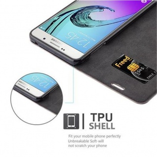 Cadorabo Hülle für Samsung Galaxy A7 2016 in KAFFEE BRAUN - Handyhülle mit Magnetverschluss, Standfunktion und Kartenfach - Case Cover Schutzhülle Etui Tasche Book Klapp Style - Vorschau 2