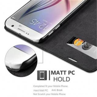 Cadorabo Hülle für Samsung Galaxy S6 in NACHT SCHWARZ - Handyhülle mit Magnetverschluss, Standfunktion und Kartenfach - Case Cover Schutzhülle Etui Tasche Book Klapp Style - Vorschau 2