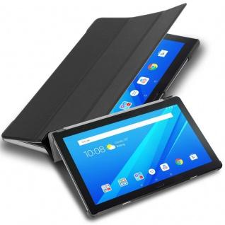 """Cadorabo Tablet Hülle für Lenovo Tab 4 10 PLUS (10, 1"""" Zoll) in SATIN SCHWARZ Ultra Dünne Book Style Schutzhülle mit Auto Wake Up und Standfunktion aus Kunstleder"""