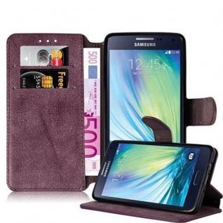 Cadorabo Hülle für Samsung Galaxy A5 2015 (5) - Hülle in MATT ROT - Handyhülle mit Standfunktion und Kartenfach im Retro Design - Case Cover Schutzhülle Etui Tasche Book Klapp Style