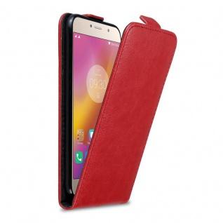 Cadorabo Hülle für Lenovo P2 in APFEL ROT Handyhülle im Flip Design mit Magnetverschluss Case Cover Schutzhülle Etui Tasche Book Klapp Style
