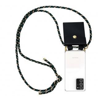 Cadorabo Handy Kette für Samsung Galaxy NOTE 20 PLUS in CAMOUFLAGE Silikon Necklace Umhänge Hülle mit Gold Ringen, Kordel Band Schnur und abnehmbarem Etui Schutzhülle