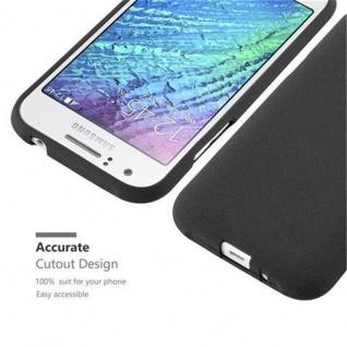 Cadorabo Hülle für Samsung Galaxy J1 2015 in FROST SCHWARZ - Handyhülle aus flexiblem TPU Silikon - Silikonhülle Schutzhülle Ultra Slim Soft Back Cover Case Bumper - Vorschau 2