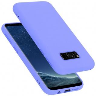 Cadorabo Hülle für Samsung Galaxy S8 in LIQUID HELL LILA Handyhülle aus flexiblem TPU Silikon Silikonhülle Schutzhülle Ultra Slim Soft Back Cover Case Bumper
