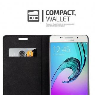 Cadorabo Hülle für Samsung Galaxy A5 2016 in APFEL ROT - Handyhülle mit Magnetverschluss, Standfunktion und Kartenfach - Case Cover Schutzhülle Etui Tasche Book Klapp Style - Vorschau 4