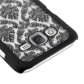 Samsung Galaxy J7 2015 Hardcase Hülle in SCHWARZ von Cadorabo - Blumen Paisley Henna Design Schutzhülle ? Handyhülle Bumper Back Case Cover - Vorschau 4