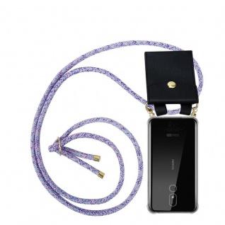 Cadorabo Handy Kette für Nokia 3.2 in UNICORN - Silikon Necklace Umhänge Hülle mit Gold Ringen, Kordel Band Schnur und abnehmbarem Etui ? Schutzhülle