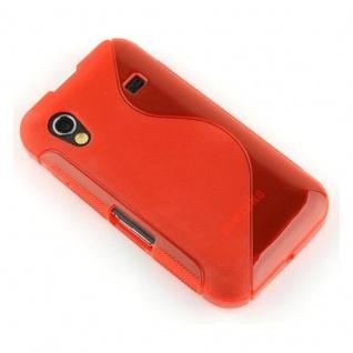 Cadorabo Hülle für Samsung Galaxy ACE 1 in INFERNO ROT - Handyhülle aus flexiblem TPU Silikon - Silikonhülle Schutzhülle Ultra Slim Soft Back Cover Case Bumper - Vorschau 3