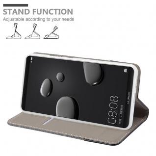 Cadorabo Hülle für Huawei MATE 10 PRO in GRAU SCHWARZ - Handyhülle mit Magnetverschluss, Standfunktion und Kartenfach - Case Cover Schutzhülle Etui Tasche Book Klapp Style - Vorschau 3