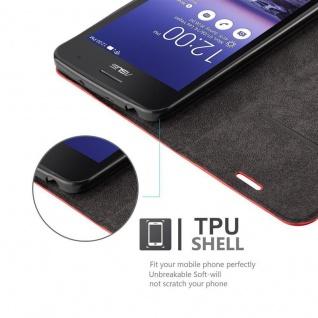 Cadorabo Hülle für Asus ZenFone 5 2014 in APFEL ROT - Handyhülle mit Magnetverschluss, Standfunktion und Kartenfach - Case Cover Schutzhülle Etui Tasche Book Klapp Style - Vorschau 2